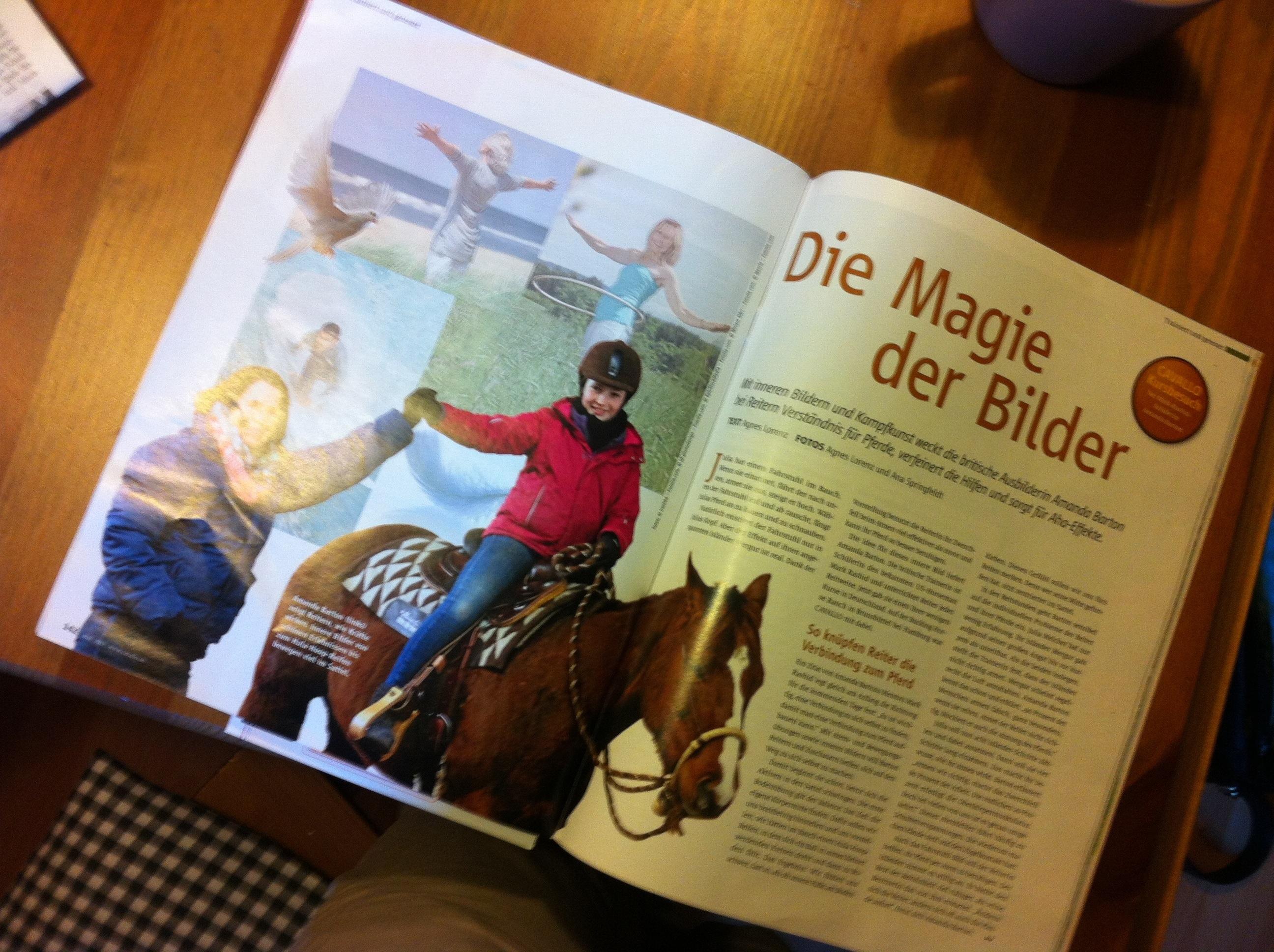 Artikel über Amanda Barton-Kurs in der Cavallo